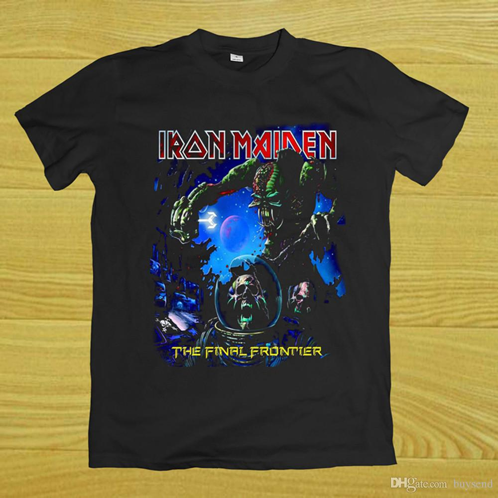 0031adef Iron Maiden The Final Frontier T Shirt Rare Top Tee Short Slevee S 3XL T  Shirts With Sayings Awesome T Shirt Designs From Buysend, $10.03  DHgate.Com