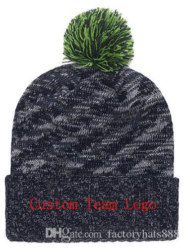 63f0d430 2019 Autumn Winter hat men women Sports Hats Custom Knitted Cap Sideline  Cold Weather Knit hat Soft Warm Seahawks Beanie Skull Cap