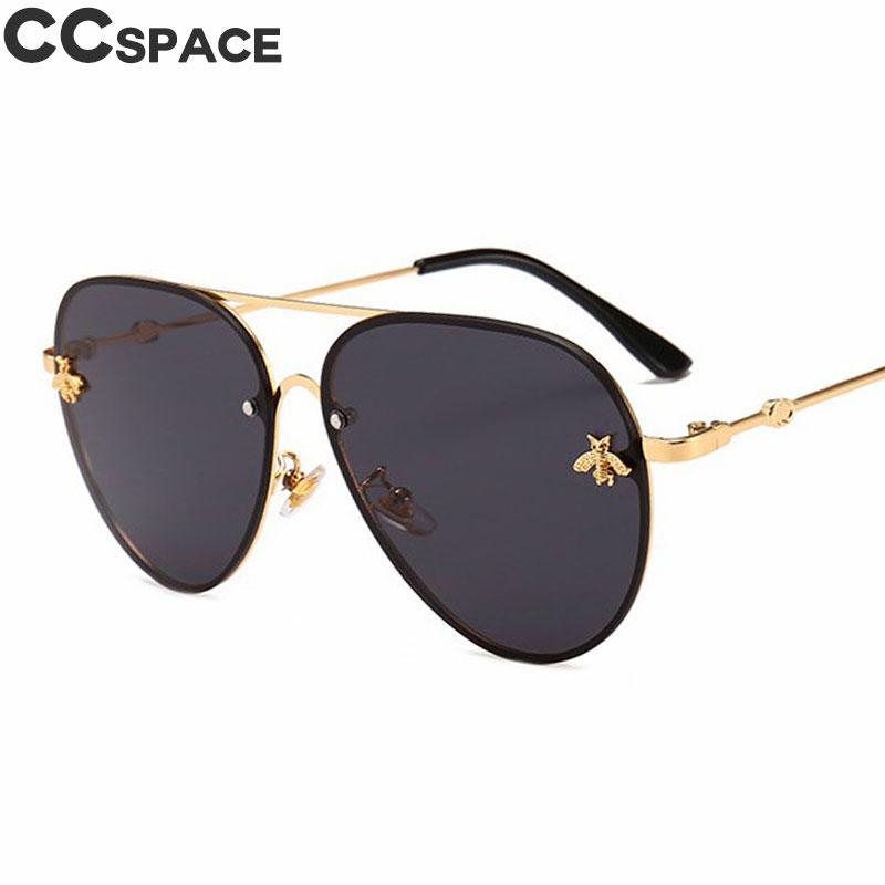 e872fc9d014 Luxury Bee 2018 Pilot Sunglasses Women Fashion Shades Metal Frame Vintage CCSPACE  Brand Glasses Men Designer Male Female 46023 Online with  27.95 Piece on ...