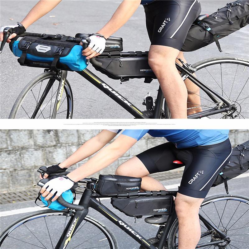 a5ff96e7878 Compre Bolso De La Bicicleta Bolso De La Bici Tubo De Marco Delantero  Bicicleta De Montaña E Bolsa Marco Titular Saddle Bycicle Bolsas De  Ciclismo ...