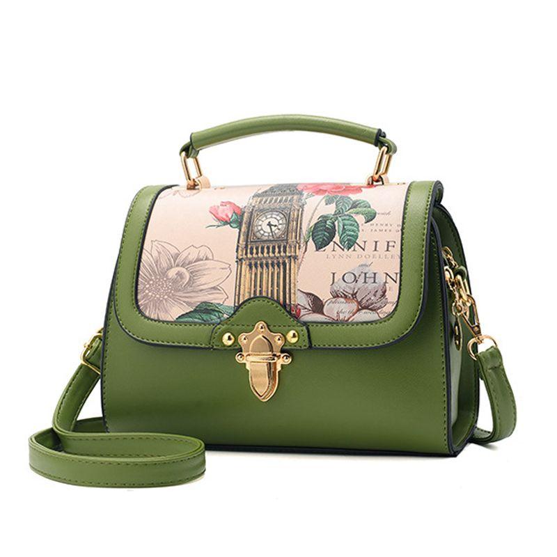 9e88927dd21 Women Floral Print Doctor Bag Color Block Designer Leather Handbags Brand  Vintage Small Tote Bag Female Shoulder Messenger Bags Crossbody Purses  Wholesale .