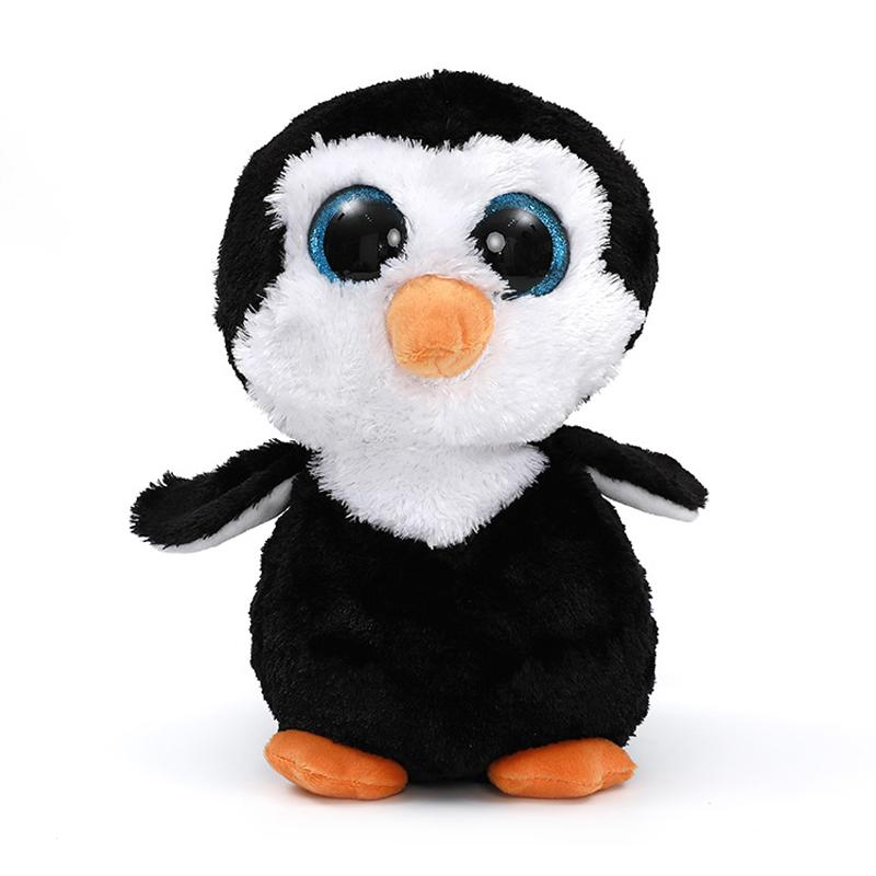 2019 22cm Ty Beanie Boos Big Eyes Penguin Plush Toy Doll Waddles