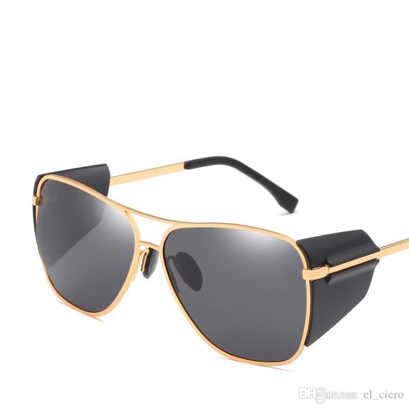 d8edd5208f9ba 2018 New Fashion Gothic Steam Punk Sun Glasses Brand Designer Vintage Pilot  Women Men Steampunk Sunglasses Occhiali Da Sole Fastrack Sunglasses Smith  ...