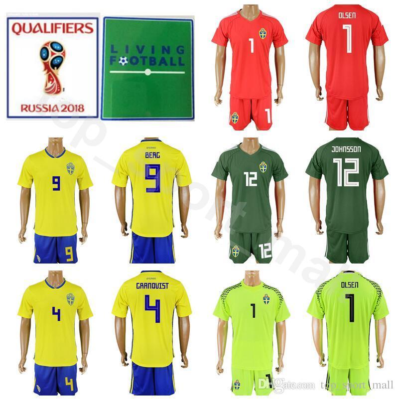 1e99bbee8 2019 Sweden 2018 World Cup Soccer Jersey Set Men 9 Emil Forsberg 1 Robin  Olsen Football Shirt Kits 20 Ola Toivonen Custom Name Number Yellow Home  From ...