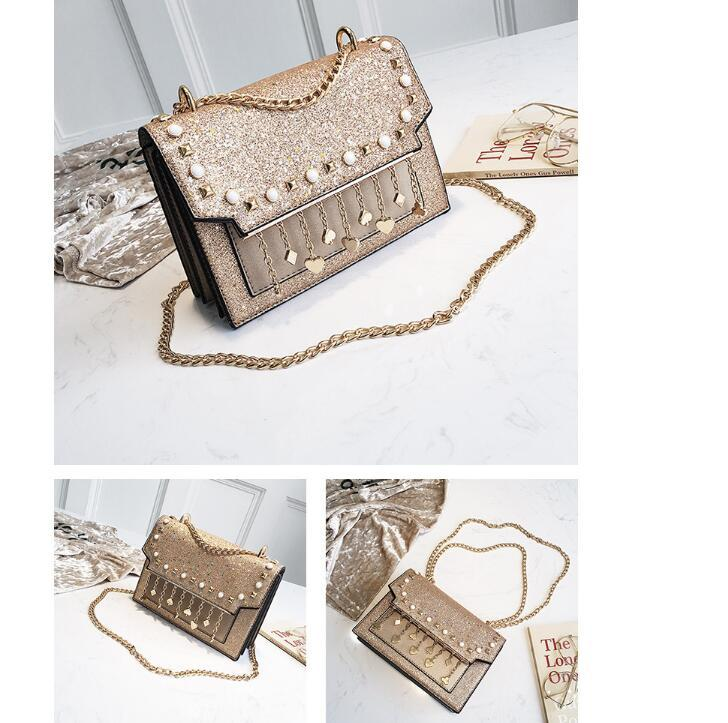 cb4f506d877 Women Metallic Bags Designer Handbags Wallets For Women Sequins Leather  Chain Bag Crossbody And Shoulder Bags Black White Pink Bags For Men  Satchels From ...