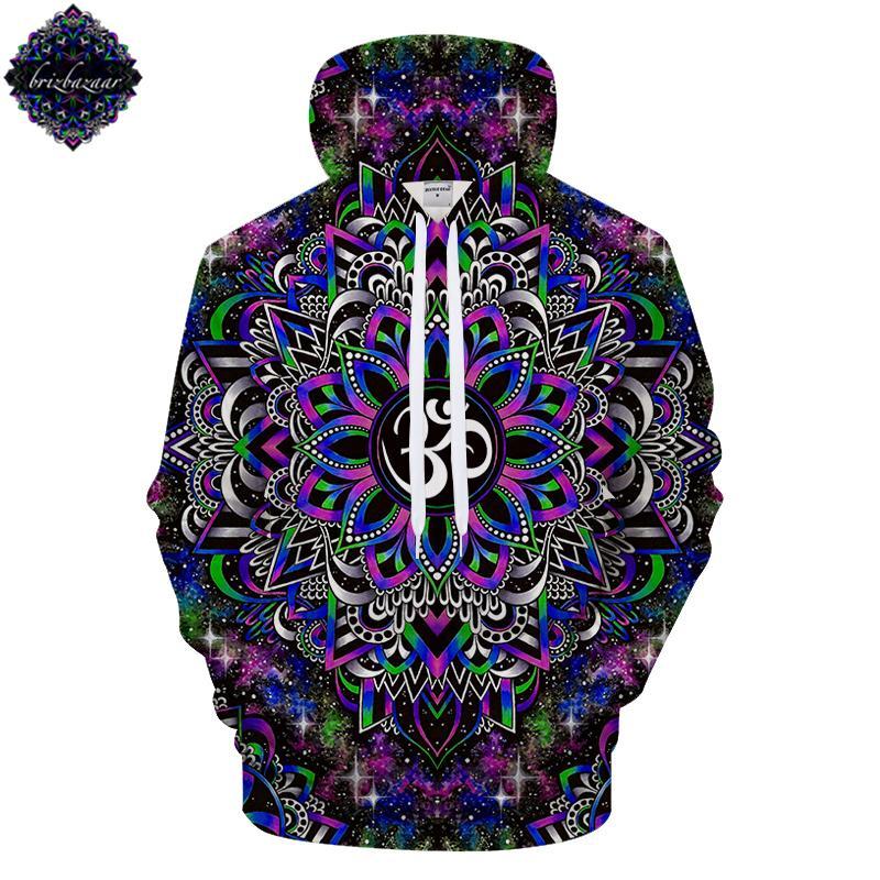 968f35d81 DreamyOm By Brizbazaar Art 3D Pattern Print Hoodie Galaxy Sweatshirt ...