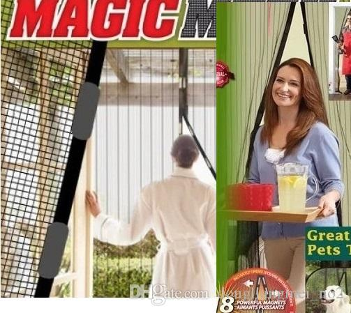 DLM2 Atacado-Hot Summer mosquiteiro cortina ímãs porta Malha Inseto Fly Bug Mosquito Cortina de porta Net Net Mesh Screen Magnets WN118