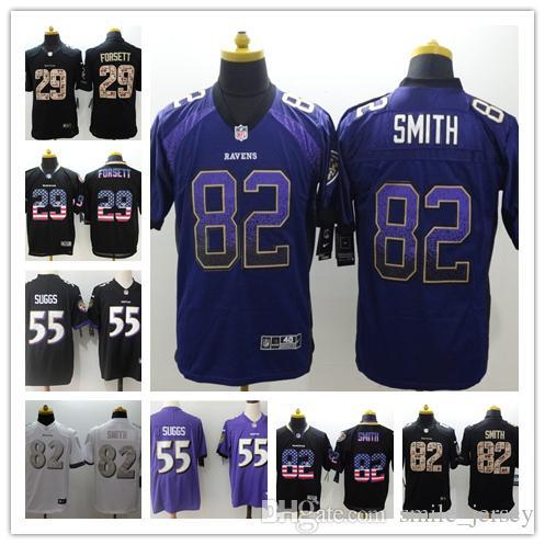 00d58ba9a3e New Mens 55 Terrell Suggs Baltimore Jersey Ravens Football Jerseys ...