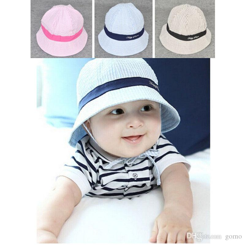 19a30ff5d4369 2019 Baby Boy And Girl Kid Spring Summer Pots Hat Cotton Sun Visor Caps  Outdoor Baby Girl Hats Sun Beach Bucket Hat From Gomo, $1.82 | DHgate.Com