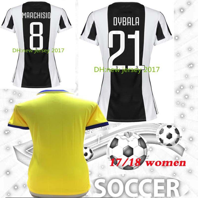Women 17 18 Italy Club Soccer Jersey 2018 Buffon MARCHISIO DYBALA ... 876adbd2cc