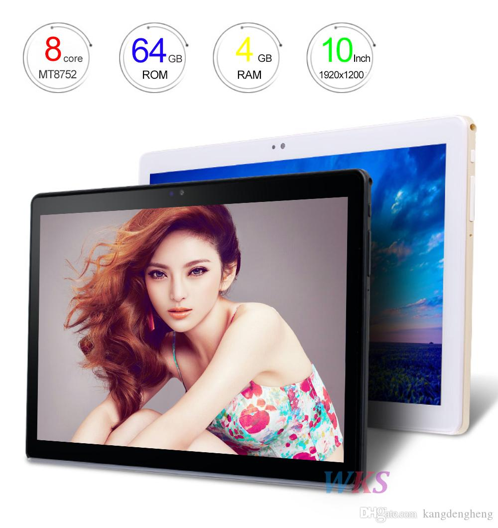 2018 more new original 10 inch Android Tablet PC 7.0 phone call octa core 64GB + 4 GB 1920 * 1200 IPS WiFi Bluetooth smart Tablet PC