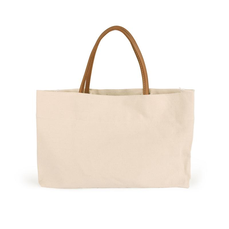 Embroidery Initials Canvas Bag Wholesale Blanks 20oz Canvas Tote
