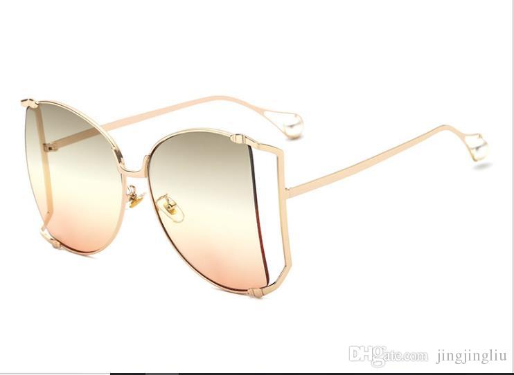 8c0a14d3244 New Trends in Europe And America Ms. Pearl Big Cat Eye Sunglasses ...