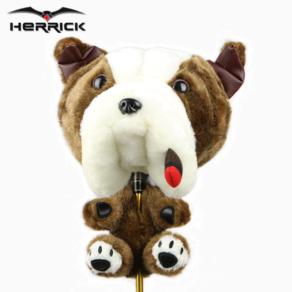 Golf wood club headcover unisex Animal plush golf head cover driver club cover