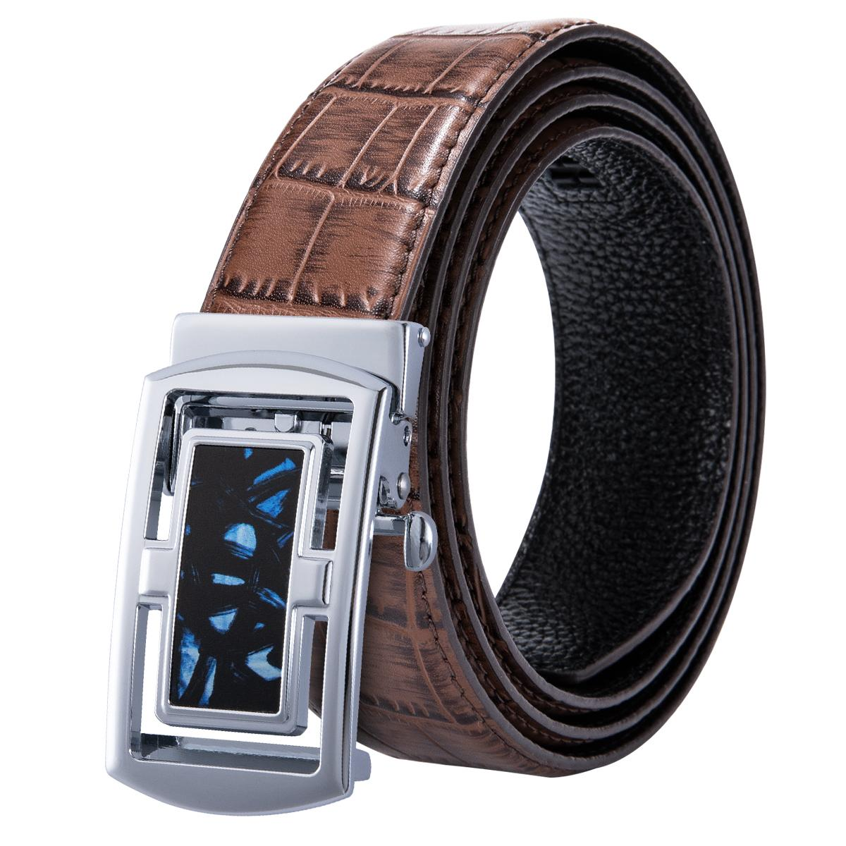 74734831f68 Hi-Tie Cowhide Genuine Leather Belt for Men Strap Male Fashion ...