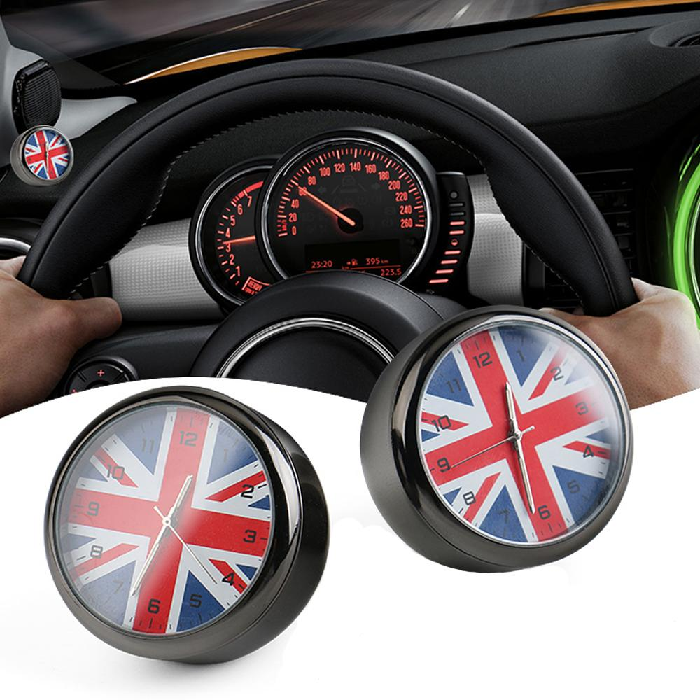 Car Styling Car Clock Uk Flag Union Jack Dashboard Decor Accessories