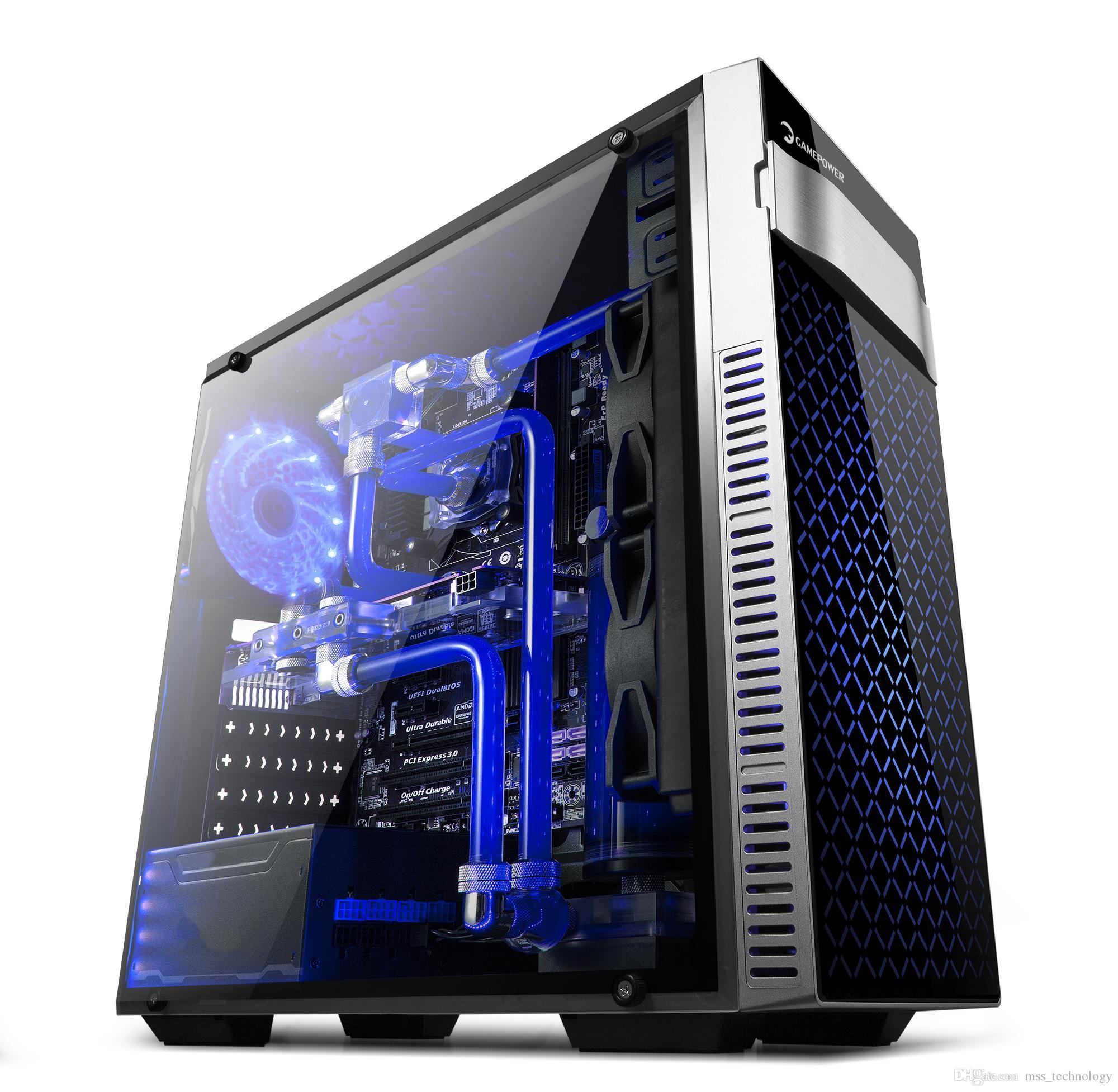 בלתי רגיל 2019 GAMEPOWER ATLAS Gaming PC Case With LED Fan Preinstalled From YK-48