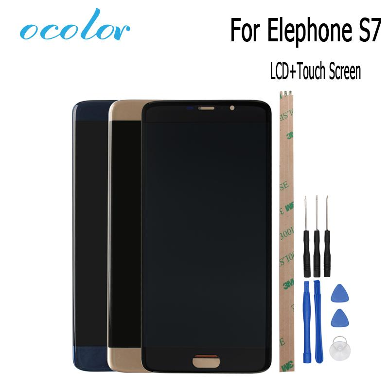 ocolor Elephone S7 LCD Display and Touch Screen Assembly Screen Digitizer Replacement Tools For Elephone S7 Mobile Accessories
