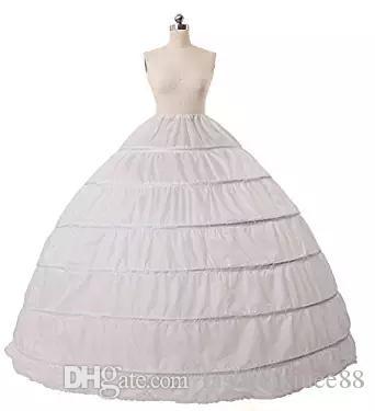 Top Venda Completa A-line 6 Hoop Até o Chão Vestido De Noiva Vestido de Noiva Acessórios Antiderrapante Petticoat Escorregar 2017