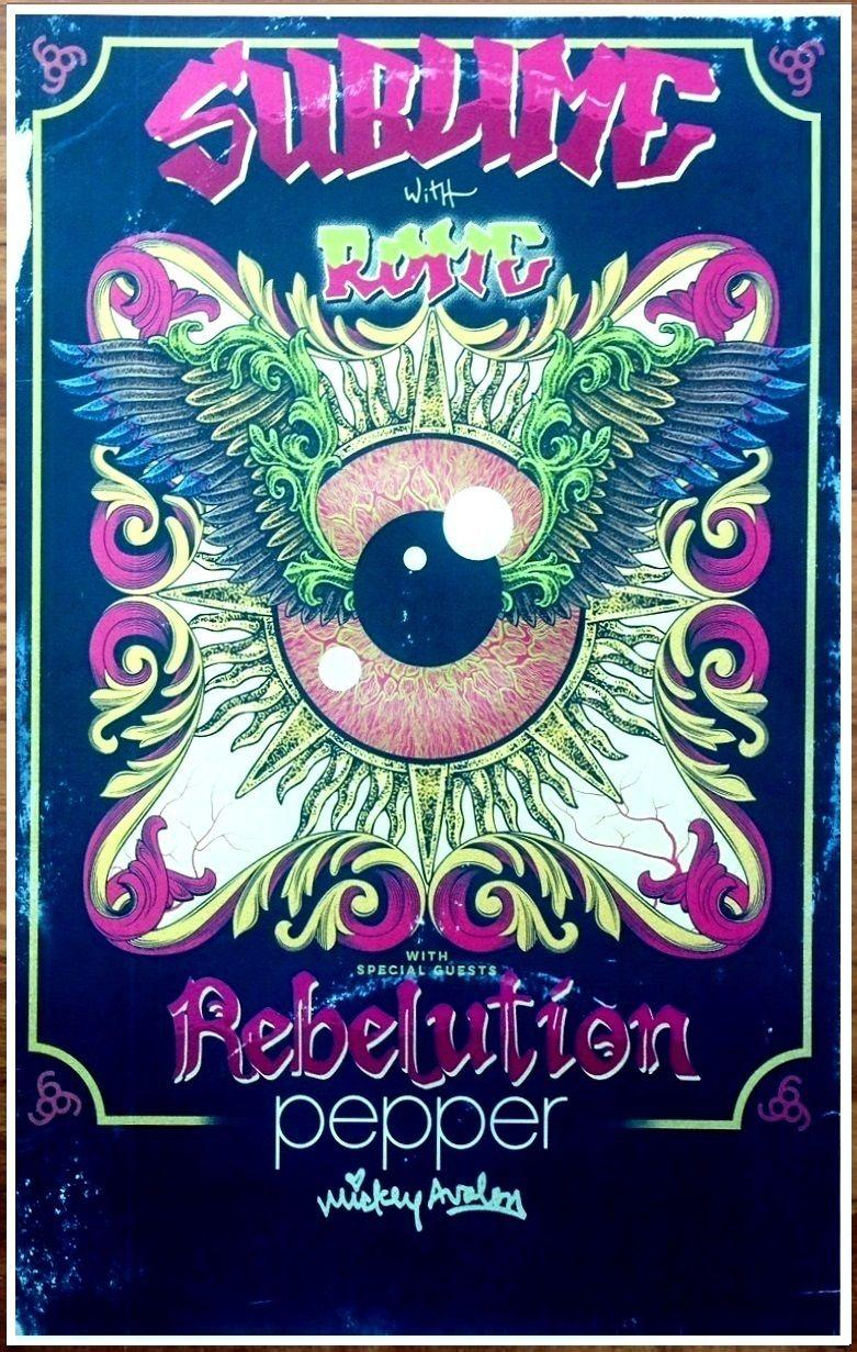 2019 Sublime With Rome Rebelution Sirens Tour Art Silk Poster