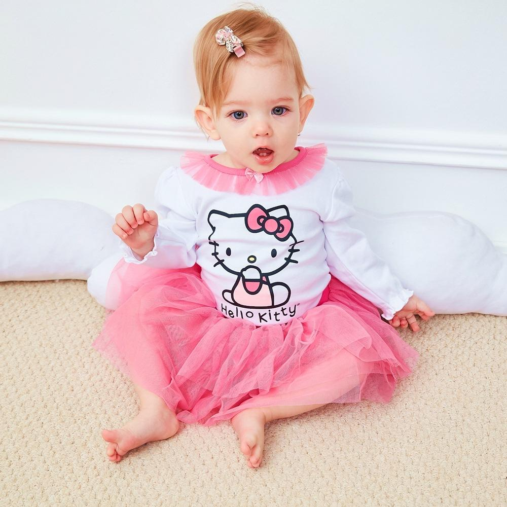 16e8de86b 2019 Baby Romper Baby Girl Clothes Infant Long Sleeve Princess HelloKitty  Jumpsuit Tutu Dress Clothing Set From Babyhouse2019, $8.38 | DHgate.Com