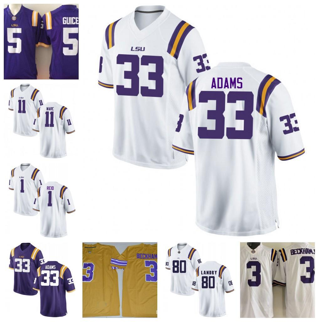 free shipping 851c0 c0e44 NCAA LSU Tigers 33 Jamal Adams 1 Eric Reid 11 Spencer Ware 80 Jarvis Landry  College Football Jersey Stitched S-3XL