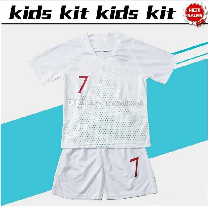 ab6ddca1f Top 2018 World Cup Soccer Jersey Kids Kit 2018 Home Red Away White Soccer Jerseys  Child Soccer Shirts Uniform Jersey+shorts World Cup Soccer Jersey And ...