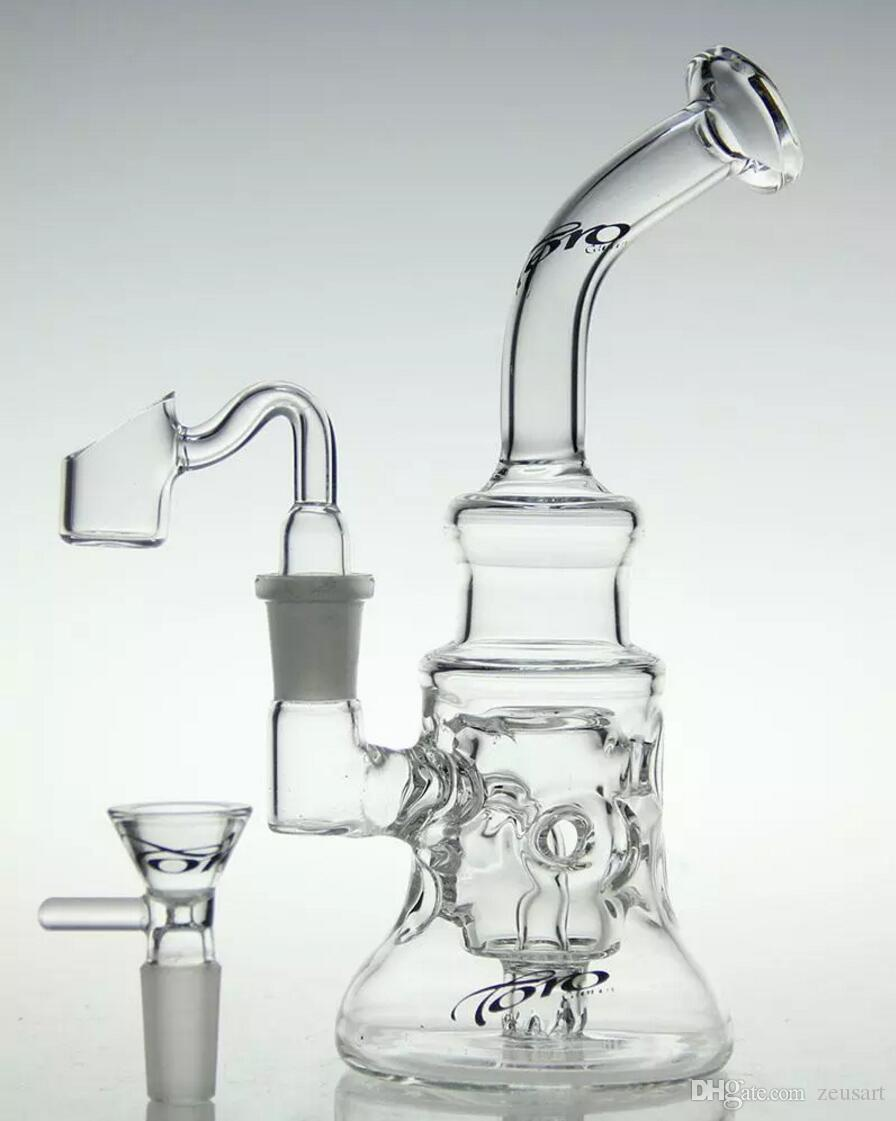 großhandel handgemachte toro glas kunst recycler glas bong