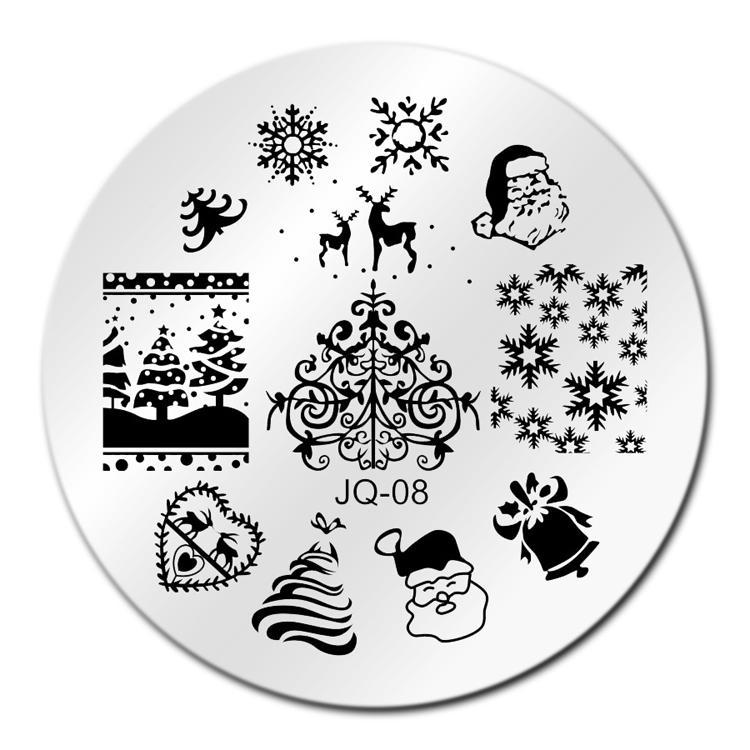 Nail Art Merry Christmas Nail Art Stamping Template Image Plate Jq08