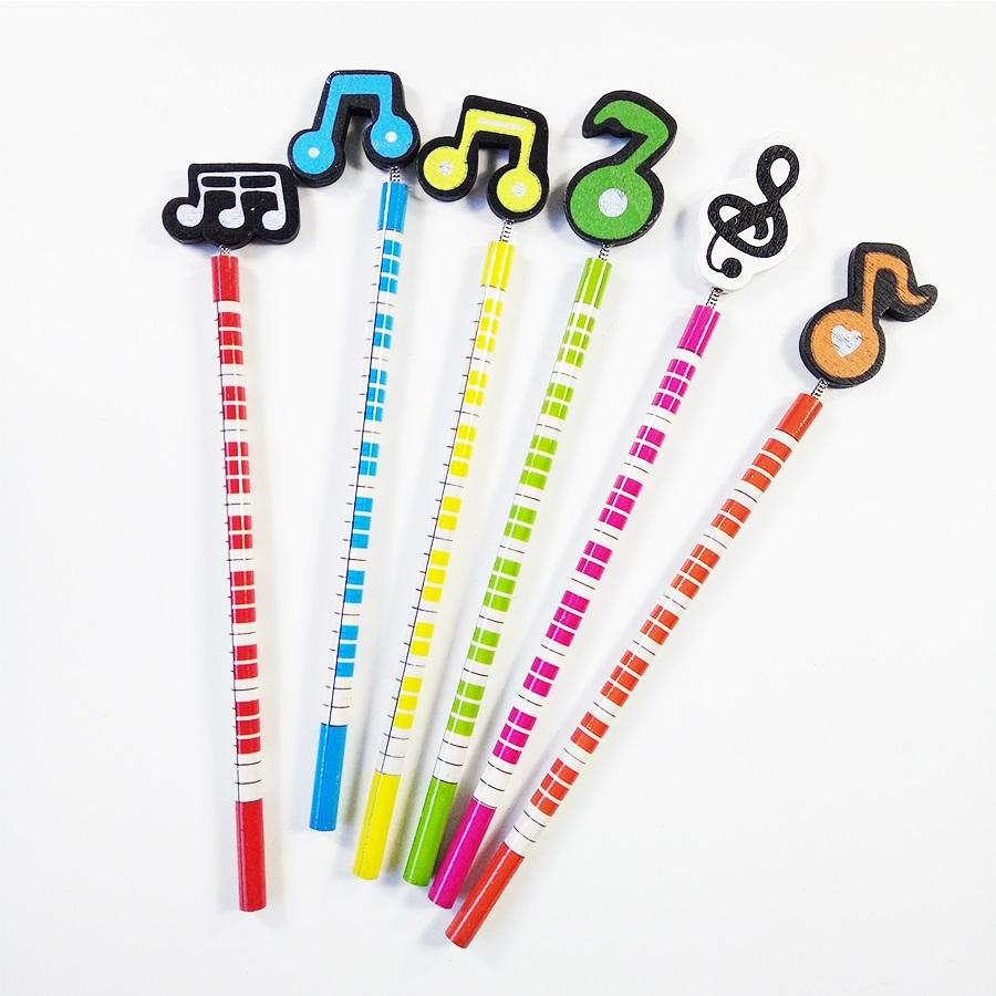 60 Pcs/lot Music Standard Pencils Happy Christmas Gift For students  Children Office Stationery School Writing pen Supplies