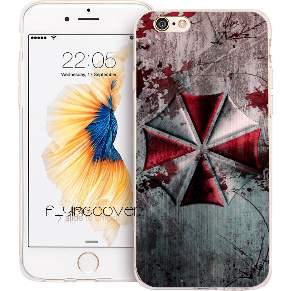 7fdd5ad9ce9 Forros Para Celulares Capa Resident Evil Umbrella Claro TPU Cubierta De  Silicona Del Teléfono Para IPhone X 7 8 Plus 5S 5 SE 6 6S Plus 5C 4S 4 IPod  Touch 6 ...