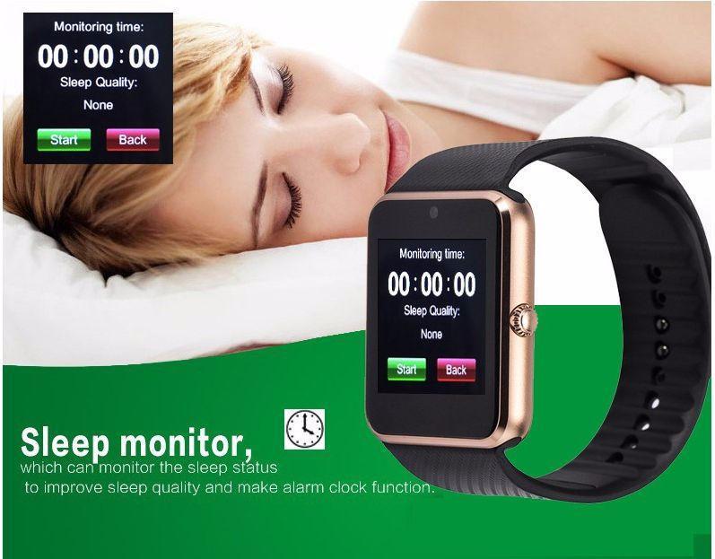 Gt08 Bluetooth reloj inteligente para Apple iPhone IOS teléfono Android desgaste de la muñeca Soporte Sync reloj inteligente Tarjeta Sim En stock