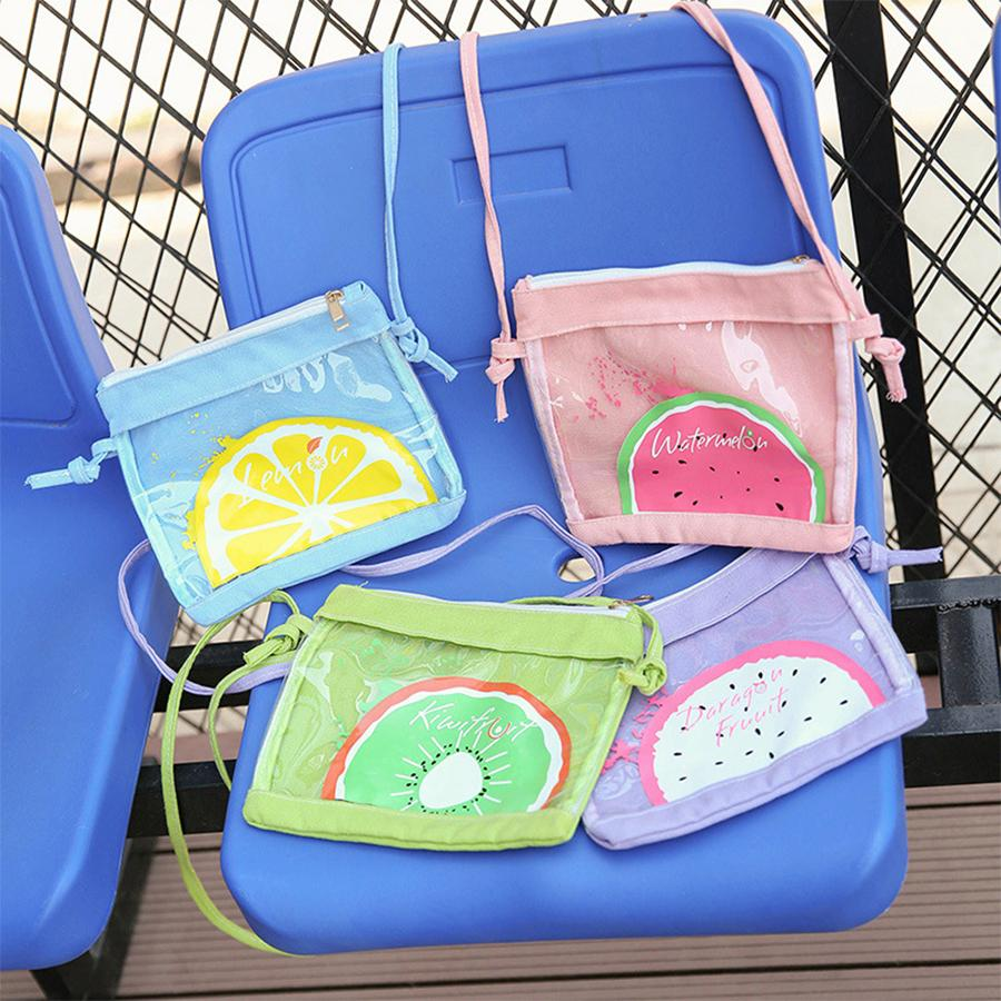 Cute Clear Transparent Women Shoulder Messenger Bag Ita Jelly Candy Student  Girls Crossbody Bag Kawaii Cartoon Mini Flap 2018