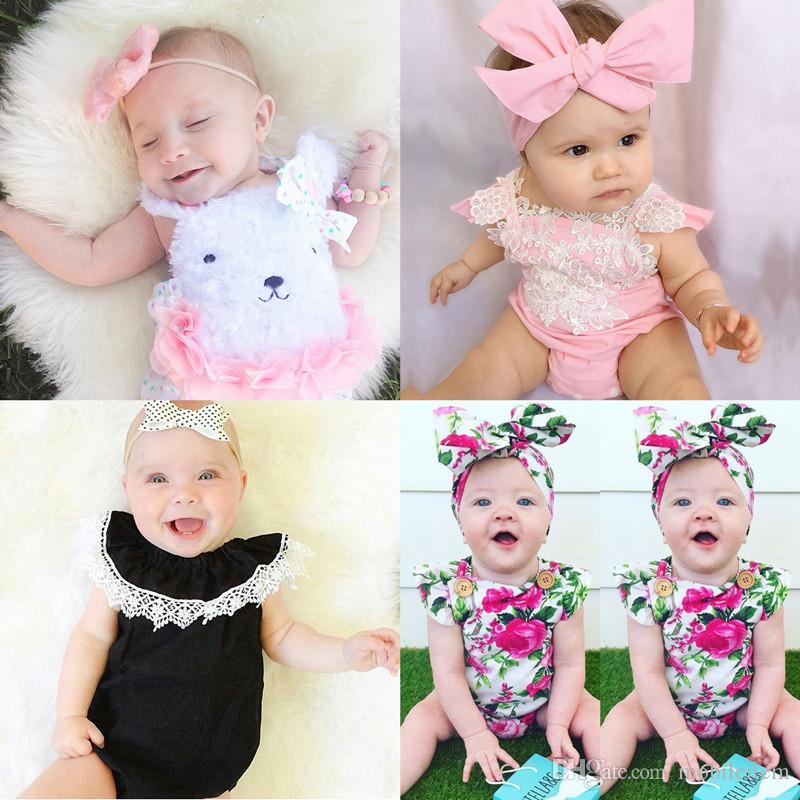 aca725f4a1 2019 Jumpsuits Rompers Flowers Cartoon Animal Plant Printing Kids Clothing Boutique  Girl Clothes Summer Baby Baby Jumper 1818 From Mobileitem