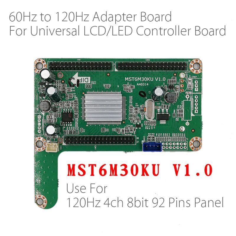 60HZ TO 120HZ LED panel adapter board converter plate MST6M30KU V1 0 For  big size 120hz LED TV LCD Controller Board