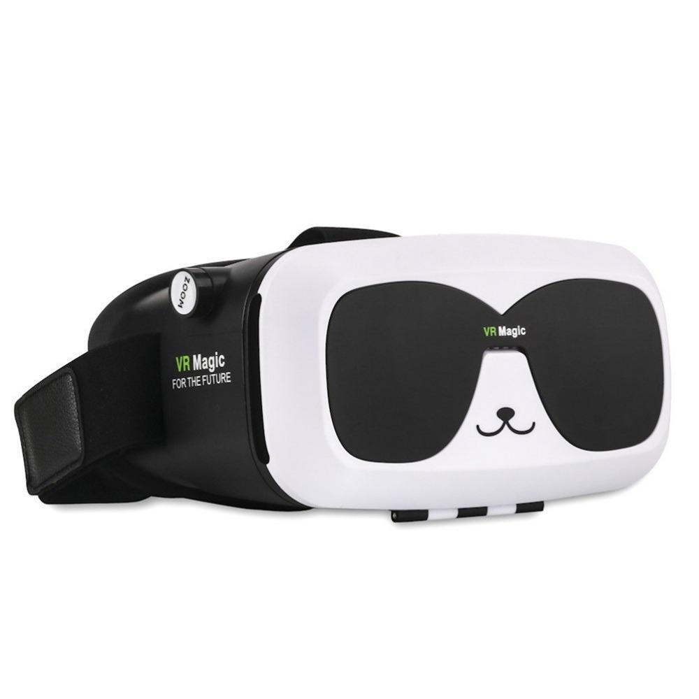 2016 New 3rd Generation Virtual Reality VR 3D Glasses With Top Quality Lens  Cute Panda Shape VR glasses For smartphone VR magic
