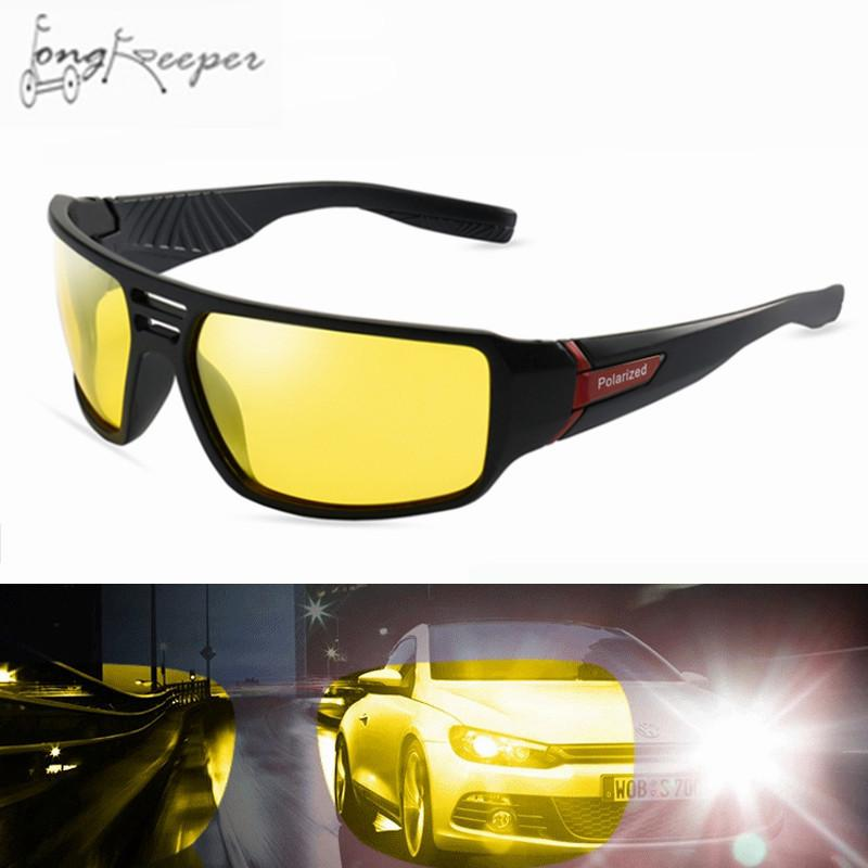 0ce9543eef71 2019 2018 Yellow Night Vision Polarized Sunglasses Cycling Sport Eyes  Protect Sun Glasses Biking Fishing Eyeglasses De Sol Masculino From  Jasperwu