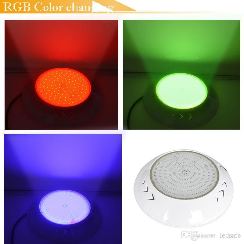 Resina Totalmente LED Luces de Piscina Lámpara AC 12V RGB Blanco Fresco Color de Luz IP68 Impermeable Al Aire Libre Accesorio de Iluminación Submarino 18W 42W