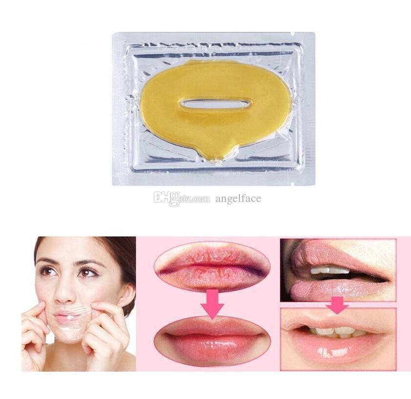 Sexy Colágeno Cristal Cuidado del labio Máscara Antienvejecimiento Membrana Humedad Material del colágeno Antiarrugas, antienvejecimiento Máscara de labios Anne Gold