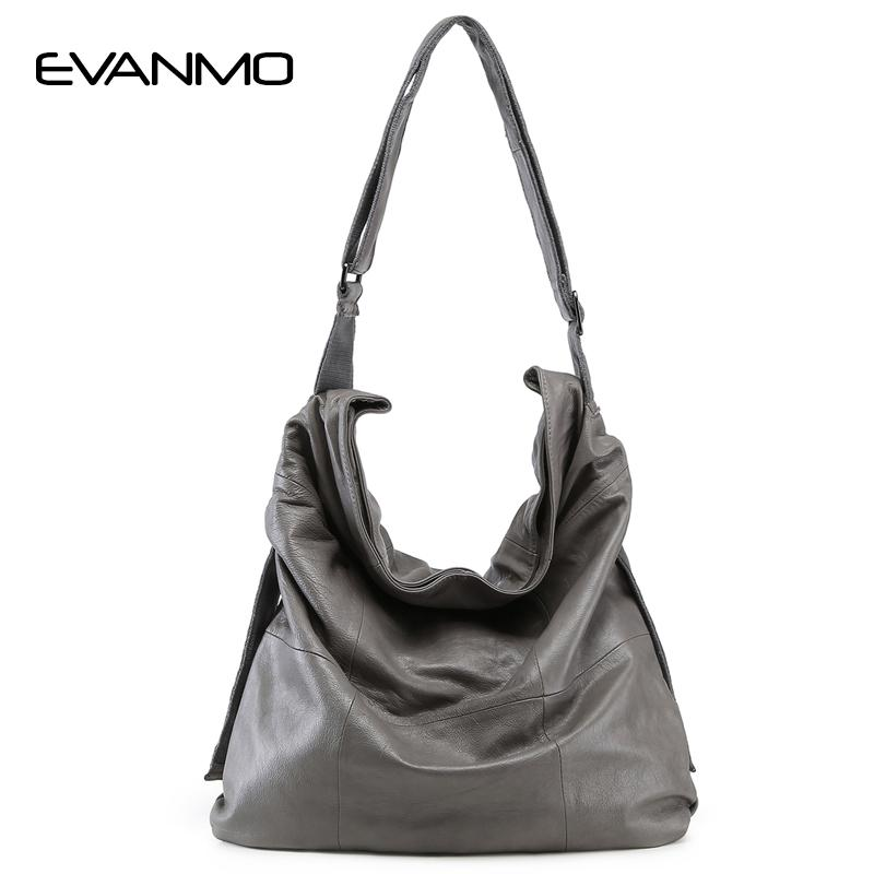 Super Big Women Genuine Leather Bag Casual Hobo Women Shoulder Bag Soft  Large Bucket Shopping First Skin Cowhide Tote E Designer Handbags On Sale  Black ... b6d1aa342ffdf