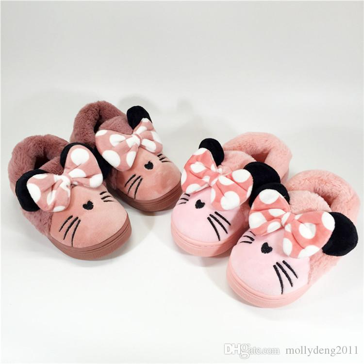 2018 Winter Baby Slippers Warm Kids House Shoes For Girl First ...