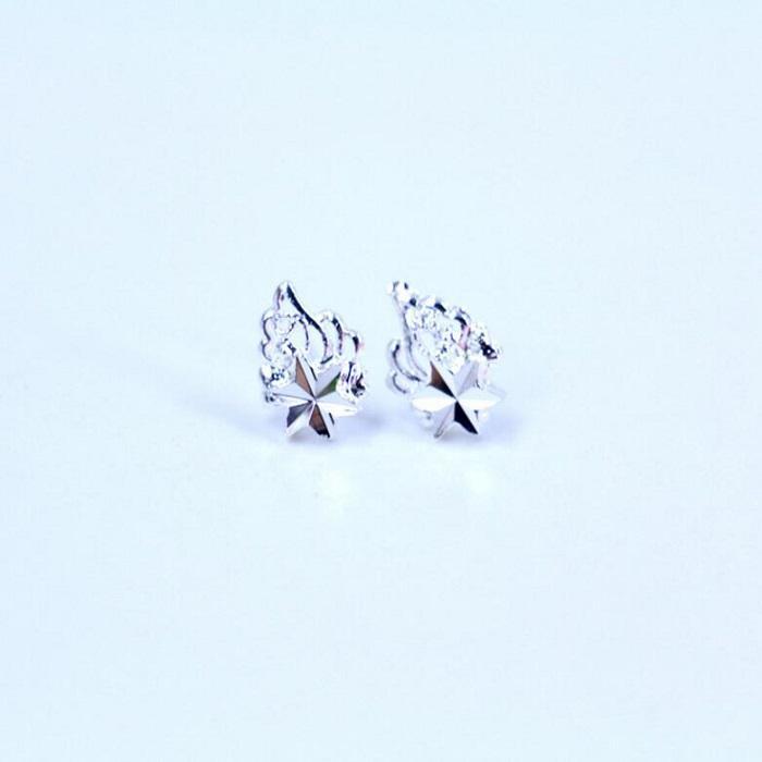 Boucles d'oreille slivery design mixte mini grâce pour les femmes Dame fille