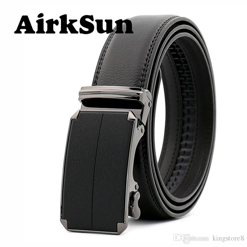 AirkSun 2018 All Black Big Size Mens Automatic Buckle Designer Belts ... 2f5137810a5