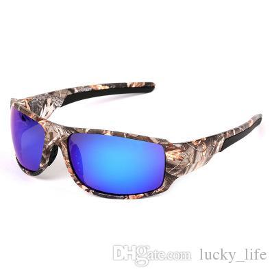 f4d10fd66bb55 ... Marca Masculino Camo Quadro Moda Óculos De Sol Ao Ar Livre Polarizada  Lente Dos Homens De Pesca Esportes Óculos De Sol Óculos De Proteção UV400  Eyewear ...