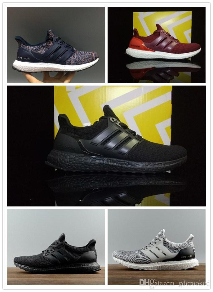 b43808016fec6 WITH BOX Ultra Boost 4.0 Triple Black And White Primeknit Oreo CNY Blue  Grey Men Women Running Shoes Ultra Boosts Ultraboost Sport Sneakers Boys  Youth Shoes ...
