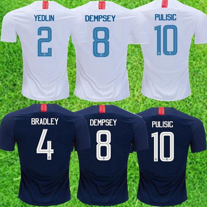 2019 2018 2019 USA PULISIC Soccer Jersey 18 19 DEMPSEY BRADLEY ALTIDORE  WOOD America Kids Kit Football Jerseys United States Shirt From  Xiaomeisports88 0d9ca3d4c