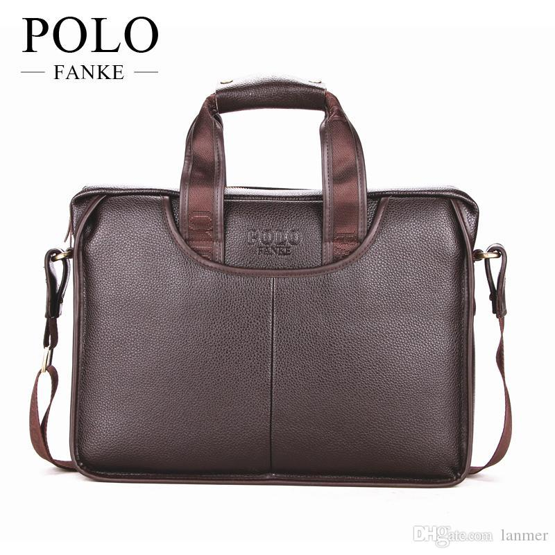 c3fd3c22a4e1 Wholesale PU Leather Men'S Briefcase Fashion Brand Mens Business Handbag  Quality Faux Briefcase Messenger Travel Bag XB117 Attache Case Leather  Goods From ...