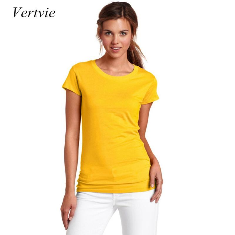 a6ceb9b5774 2019 Vertvie New Solid Cotton Anti Sweat Short Sleeve T Shirt O Neck T  Shirt Women Running T Shirt Leisure Tops Plus Size From Johiny