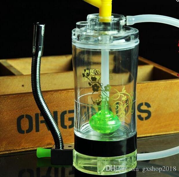 Acrilico viene fornito con un fuoco Narghilè, Invia accessori pentola, bong di vetro, tubo di acqua in vetro, fumo, modelli di colore spediti