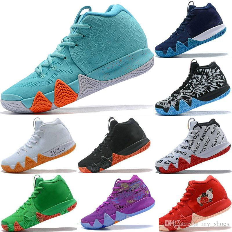 new product 232d6 4ba5b 2018 New Kyrie IV Shoes Power is Female Irving 4 men Basketball shoes 4s  Brand Athletic Shoe Sports Mens Trainers Sneakers size 40-46